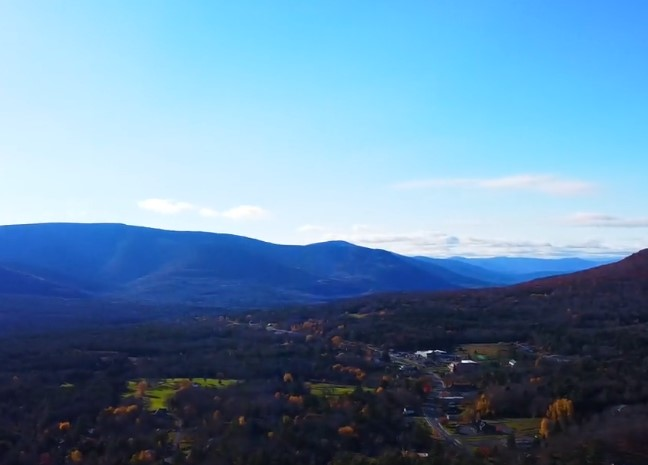 Tannersville, NY overlooking the mountains in Greene County, NY
