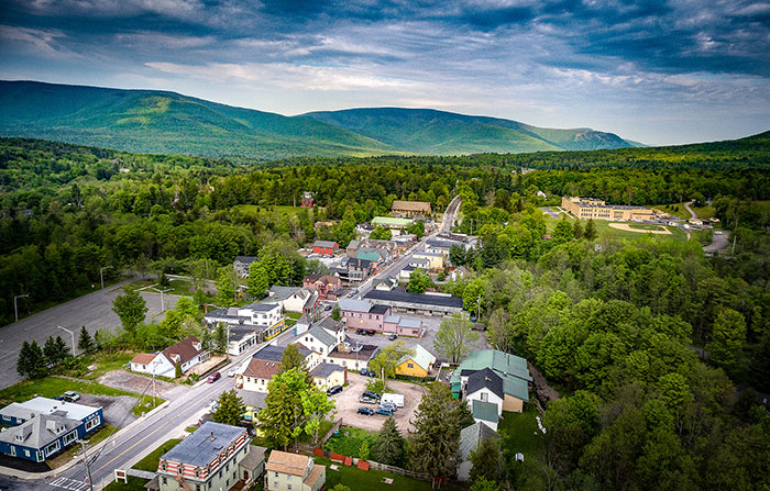 Village of Tannersville in Upstate NY